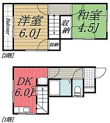 [テラスハウス] 千葉県千葉市若葉区桜木北3丁目 の賃貸【/】の間取り