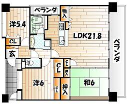 エイルマンション香春口ロゼア[13階]の間取り