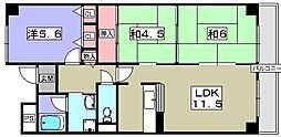 ヴィラージュ樟葉[2階]の間取り