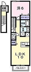 メロディーハウスⅡ[2階]の間取り
