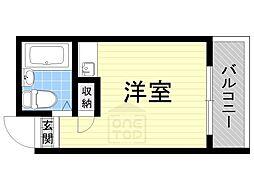 プレアール関目[4階]の間取り