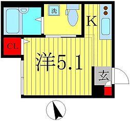 千葉県松戸市新松戸北2丁目の賃貸アパートの間取り