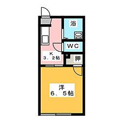 フォーブル渋谷A[2階]の間取り