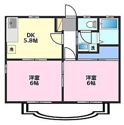パナハイツ横田[2階]の間取り