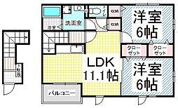 ガーデンハウス yuーu[2階]の間取り