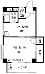 東京都杉並区高円寺南3丁目の賃貸マンションの間取り