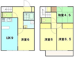 [テラスハウス] 神奈川県平塚市纒 の賃貸【/】の間取り