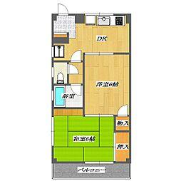 TANAKA Residence[206号室]の間取り