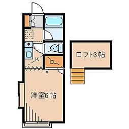 テラス湘南A[2階]の間取り