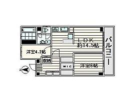 大森山王センチュリー[6階]の間取り