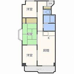北海道札幌市東区北二十七条東20丁目の賃貸マンションの間取り