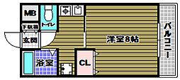 大阪府大阪狭山市半田1丁目の賃貸マンションの間取り