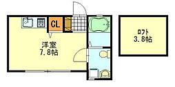 Loaplata千葉寺(ロアプラタ)[202号室]の間取り