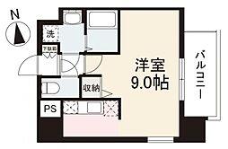 JR高徳線 栗林公園北口駅 徒歩7分の賃貸マンション 7階1Kの間取り