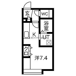 MKR.BLD[エムケイアールビル] 4階1Kの間取り