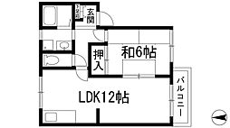 ファミール仁川2[2階]の間取り