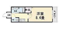 大阪府堺市西区鳳南町4丁の賃貸マンションの間取り