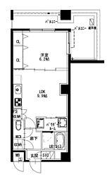 都営新宿線 曙橋駅 徒歩4分の賃貸マンション 5階1LDKの間取り