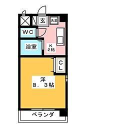 エスポアール富貴ノ台[4階]の間取り