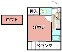 エクセレント藤井[103号室]の間取り