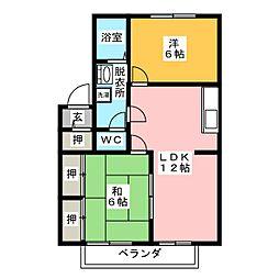 カトレア[1階]の間取り