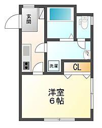 SFマンション 4a[1階]の間取り
