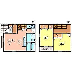 [一戸建] 愛知県安城市小川町金政 の賃貸【/】の間取り