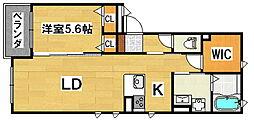 シャルダンソレイユ[2階]の間取り