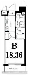 グリフィン横浜・弁天通り[902号室]の間取り