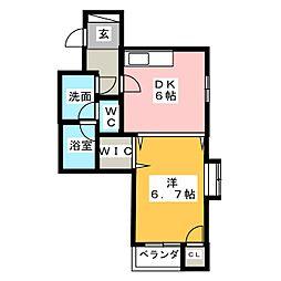 サンコート西日置[5階]の間取り