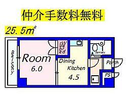 EM543[A-1号室]の間取り