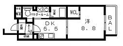 我楽ハウス[303号室号室]の間取り