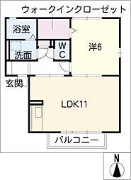 アヴニールK[2階]の間取り