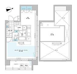 プライムアーバン芝浦LOFT[4階]の間取り
