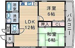 クレセント[1階]の間取り