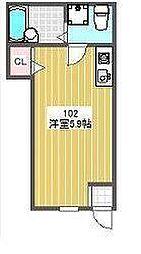 Patio bt[102kk号室]の間取り