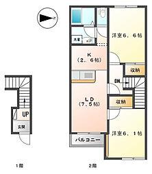 さくら ハイム[2階]の間取り