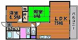 ライオンズマンション岡山弓之町[4階]の間取り