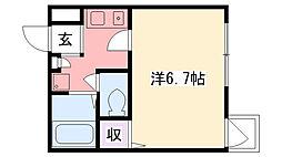ルミエール甲子園[3階]の間取り