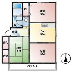 ラポール波須A[2階]の間取り