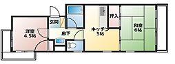 メゾン福嶋[2-F号室]の間取り