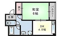 第3ハイツ卓[1階]の間取り