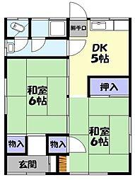 [一戸建] 鳥取県米子市西福原6丁目 の賃貸【/】の間取り