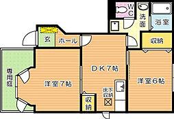 ファミールメゾン B棟内[1階]の間取り