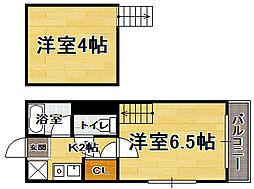福岡県福岡市中央区地行2丁目の賃貸アパートの間取り