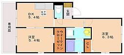 シャーメゾン弥永[1階]の間取り