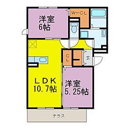 D-room半田大高町[A102号室]の間取り