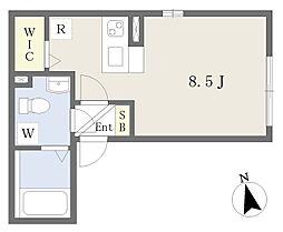 JR常磐線 亀有駅 徒歩8分の賃貸マンション 3階ワンルームの間取り