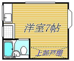 東京都世田谷区船橋4丁目の賃貸アパートの間取り