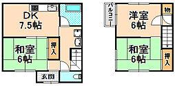 [一戸建] 兵庫県伊丹市荻野7丁目 の賃貸【/】の間取り